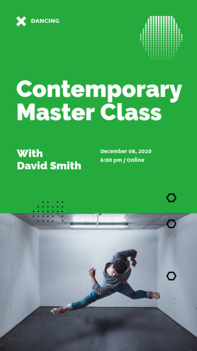 Instagram Story Maker for a Contemporary Dance Course 3240b-el1