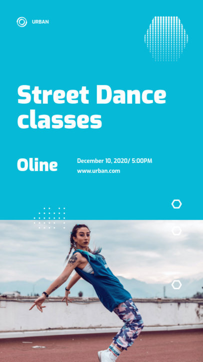 Trendy Instagram Story Design Maker for a Street Dance Course 3240e-el1