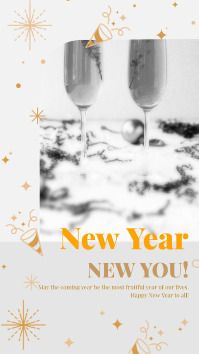 Elegant Instagram Story Generator Featuring New Year Graphics 3198e