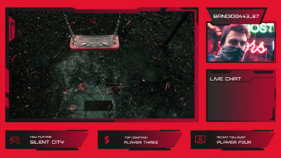 Futuristic-Looking Twitch Overlay Creator with a Webcam Frame for a Streamer 3208c-el1