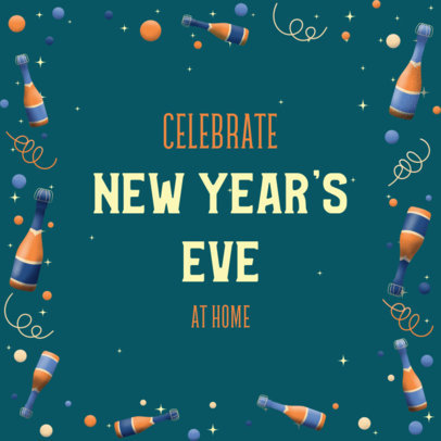 Instagram Post Design Maker with a Quote to Celebrate New Year at Home 3199b