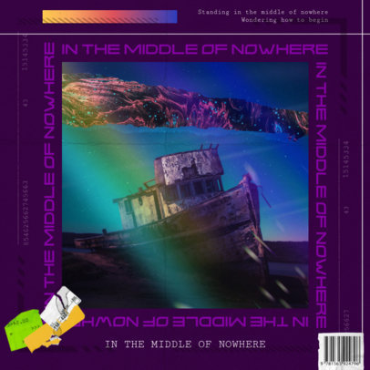 Album Art Cover Maker for a House DJ Featuring a Rainbow Overlay 3204c