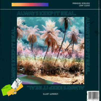 House Music Album Cover Maker Featuring a Trippy Photo 3204g