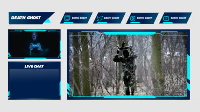 Gaming Twitch Overlay Creator Featuring a Multi-Cam Design 3206c-el1