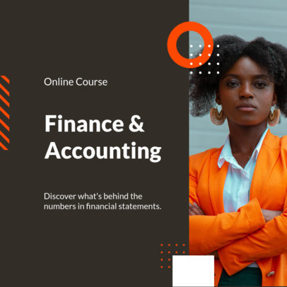Instagram Post Design Template for a Finance and Accounting Course 3254a-el1