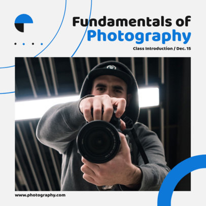 Instagram Post Maker for a Fundamentals of Photography Class Promotion 3248c-el1