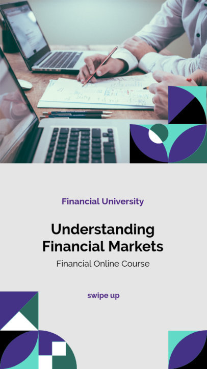 Instagram Story Template for a Financial Online Course 3236a-el1