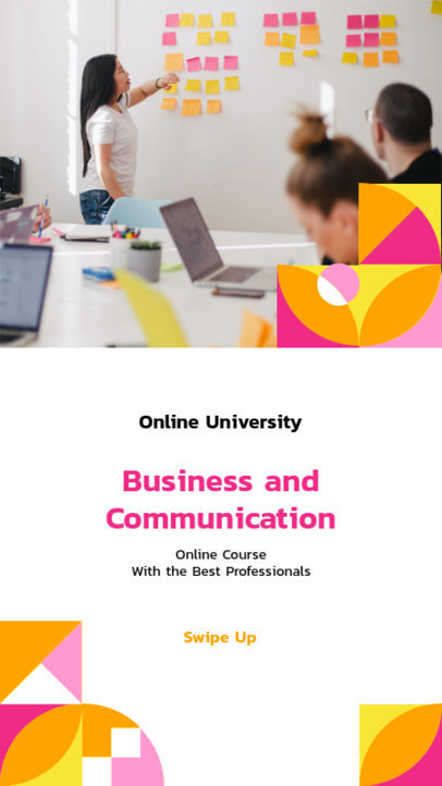 Instagram Story Creator for a Business and Communication Course 3236c-el1