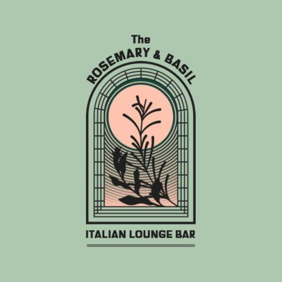 Classy Logo Template for an Italian Restaurant-Bar 3874o