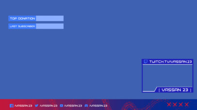 Twitch Overlay Design Template with Cool Frames and a Minimal Layout 3193d