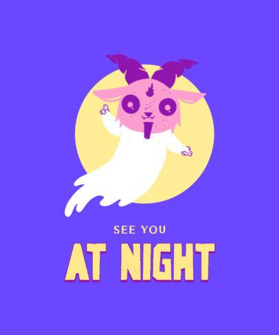 T-Shirt Design Creator Featuring a Cute Illustration of the Evil Spirit 3207c