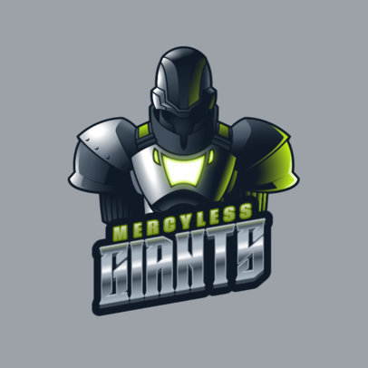 Gaming Logo Template with a Destiny-Inspired Graphic of a Titan 3884j