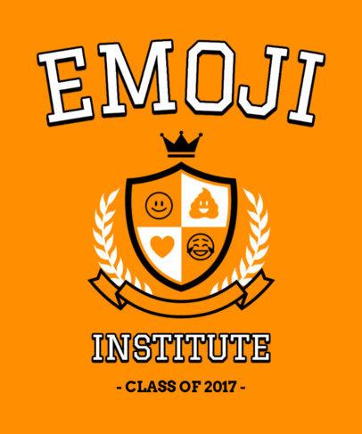 University-Style T-Shirt Design Maker Featuring an Emblem of Emojis 3209d
