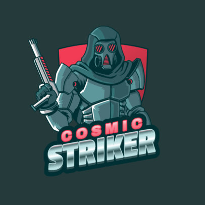Illustrated Logo Creator Featuring a Destiny-Inspired Character 3884d
