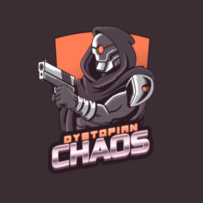 Destiny-Inspired Logo Creator with a Gunslinger Character 3884h