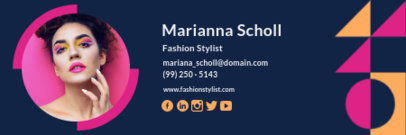 Email Signature Creator for a Fashion Stylist with Abstract Graphics 3233d
