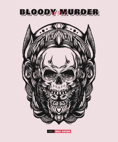 T-Shirt Design Generator Featuring an Evil Skull Illustration 3290d-el1