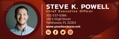 Email Signature Template for a CEO 3231b