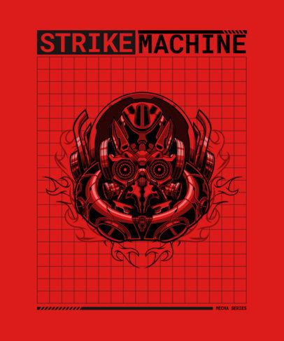 T-Shirt Design Maker Featuring a Machine 3288d-el1