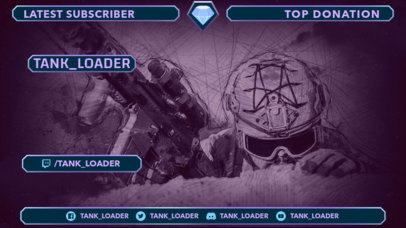 Twitch Overlay Design Maker Featuring a Graphic of a Soldier 3225f