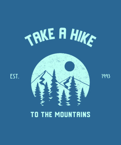 Illustrated T-Shirt Design Generator for Hiking Enthusiasts Featuring a Mountain Landscape 3230h