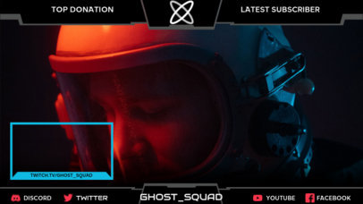 Twitch Overlay Design Creator for SciFi Gamers 3222f