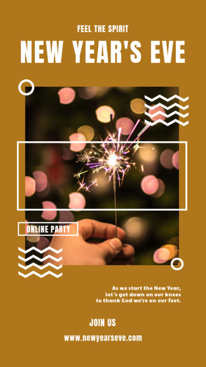 Instagram Story to Invite Friends to a New Year's Eve Party 3268c-el1