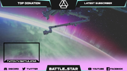 Destiny-Inspired Twitch Overlay Template with Space-Themed Graphics 3222i