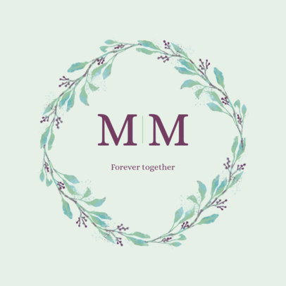 Minimal Logo Creator for Weddings Featuring a Floral Design 3918m