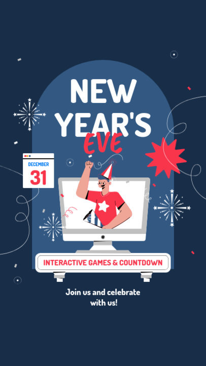 Instagram Story Maker for a New Year's Eve Party Virtual Invitation 3262a-el1