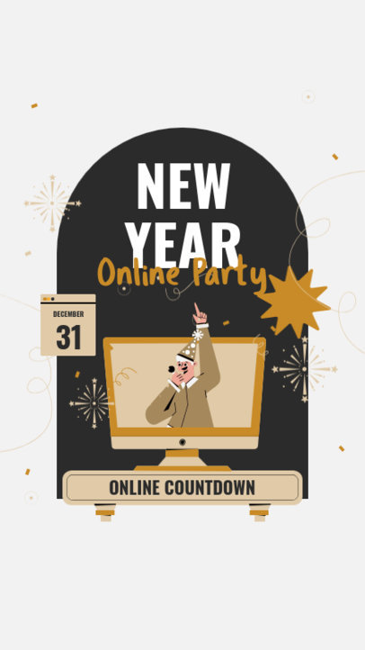 Instagram Story Generator for an Online New Year's Countdown 3262b-el1