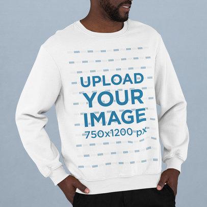 Sweatshirt Mockup of a Bearded Man Standing in a Studio m744