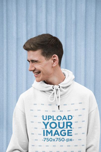 Hoodie Mockup of a Young Man Laughing 45623-r-el2
