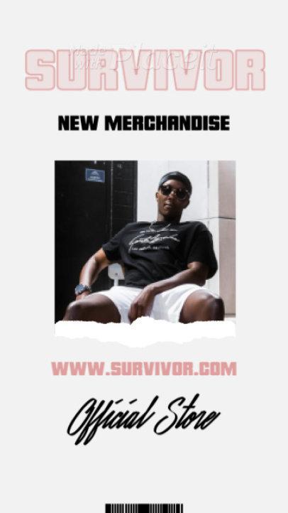 Instagram Story Video Maker for a Rap and Hip Hop Merch Store 2493-el1