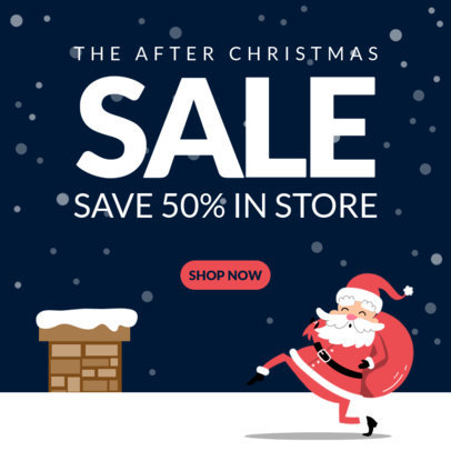 Instagram Post Template for Post-Christmas Sales 3308-el1