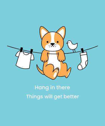 T-Shirt Design Creator Featuring a Cute Hanging Puppy Illustration 3243f