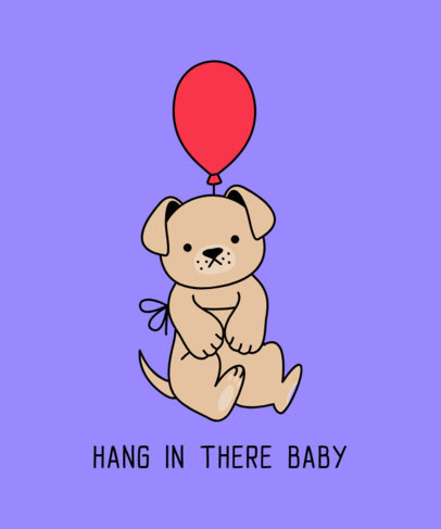Funny T-Shirt Design Maker Featuring a Dog with a Balloon 3243h