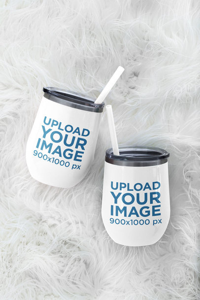 Mockup Featuring Two Wine Tumblers m236