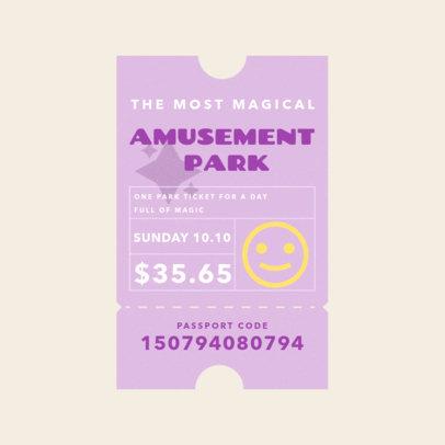 Music Logo Creator Featuring a Carnival Ticket and an Emoji 3938b