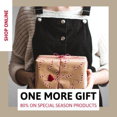 Instagram Post Design Generator for a Christmas Online Sale Announcement 3310e-el1