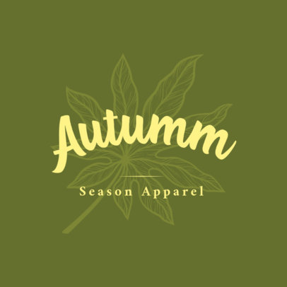 Clothing Brand Logo Maker with an Autumn Leaf Graphic 3931c
