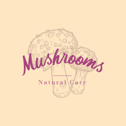 Beauty Logo Maker Featuring Engraved Mushrooms 3931f