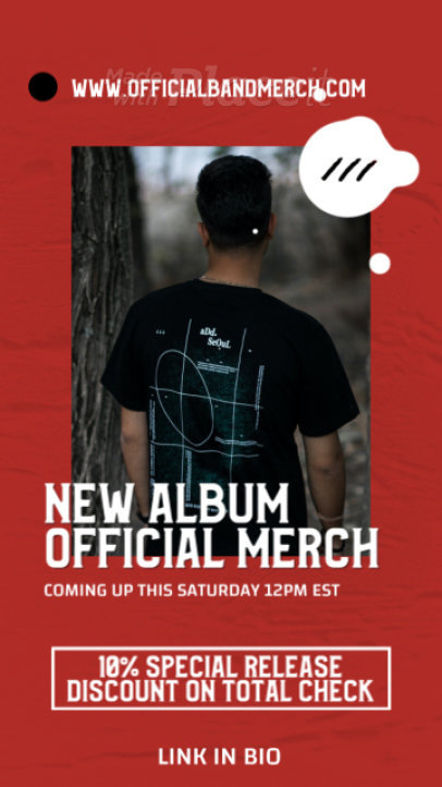 Instagram Story Generator for a Progressive Rock New Album's Merch Announcement 2487-el1