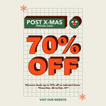 Instagram Post Design Maker to Announce an After X-Mas Special Sale 3304d-el1