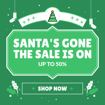 Sales-Themed Instagram Post Creator with Christmas Icons 3302d-el1