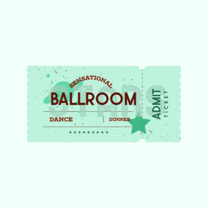 Original Logo Maker for Clothing Brands Featuring a Carnival Ticket Clipart 3937d