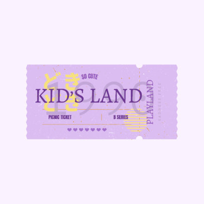 Kids Clothing Brand Logo Maker Featuring a Circus Ticket Graphic 3937g