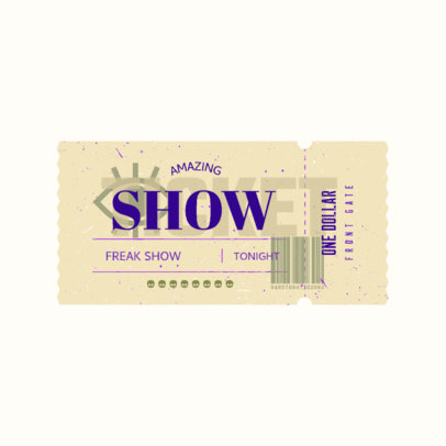Logo Maker for Music Events Featuring a Carnival Ticket Illustration 3937a