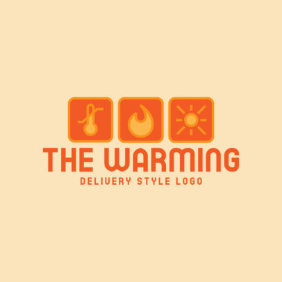Logo Creator Featuring Temperature-Themed Packaging Icons 3939d