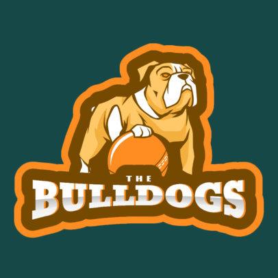Sports Logo Generator Featuring a Bulldog Holding a Cricket Ball 1649i-2937